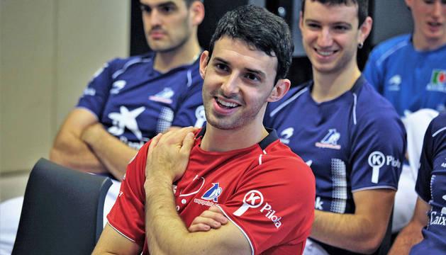 Jokin Altuna, en la presentación del Torneo de San Fermín el pasado martes en Pamplona.