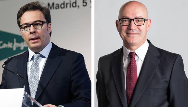 Los presidentes salientes y entrantes de El Corte Inglés, Dimas Gimeno y Jesús Nuño de la Rosa.