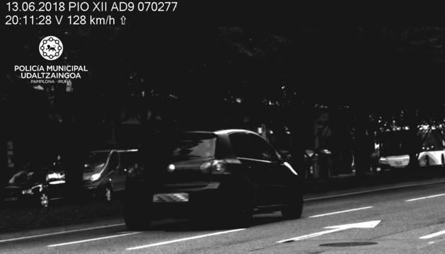 'Cazado' por el radar en Pío XII a 128 km/h y da positivo en drogas