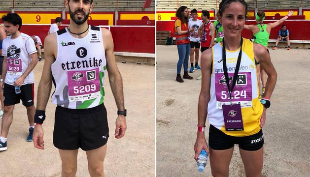 Mikel Etxamendi y Ana Llorens.