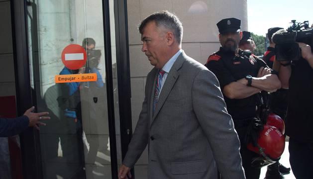 Martínez Becerra, este lunes, en al Audiencia de Navarra
