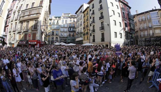 Protesta en Pamplona por la puesta en libertad de 'La Manada'