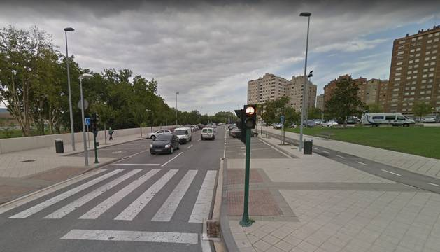 Apertura para el tráfico rodado de la calle Sadar a la avenida de Navarra