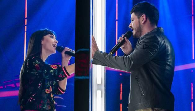 Aitana y Cepeda, en una actuación de 'OT'.