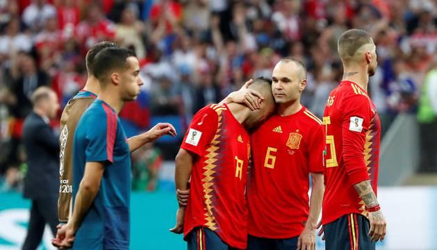La eliminación de España, en imágenes