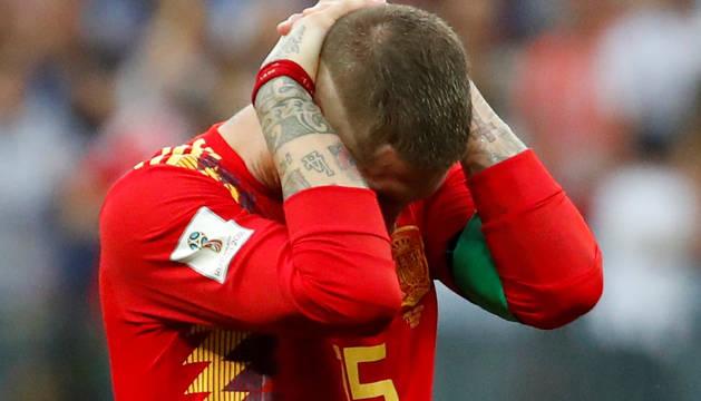 Galería de fotos de los jugadores de España tras caer eliminados del Mundial ante Rusia