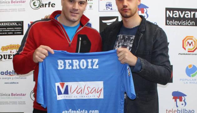 El pelotari de Huarte, Mikel Beroiz.