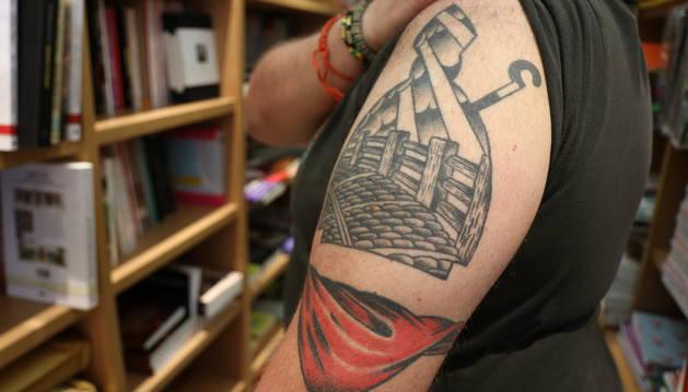 Tatuajes de San Fermín que se hizo Carmelo Buttini.