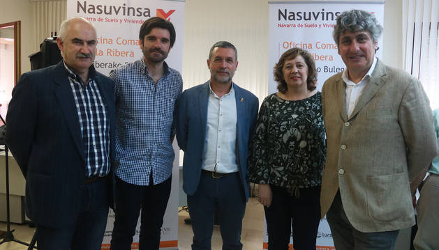 Nasuvinsa inaugura una nueva oficina en la ribera for Oficina turismo tudela