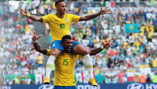 Paulinho y Neymar.