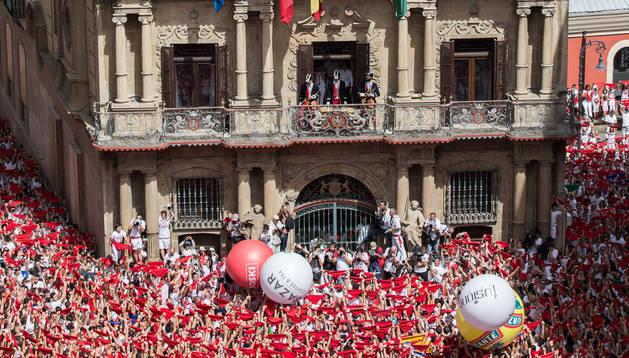 Imagen del chupinazo de 2017.