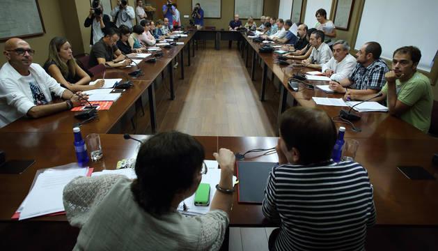 foto de Imagen de una de las reuniones de la Mesa General de las Administraciones Públicas de Navarra.