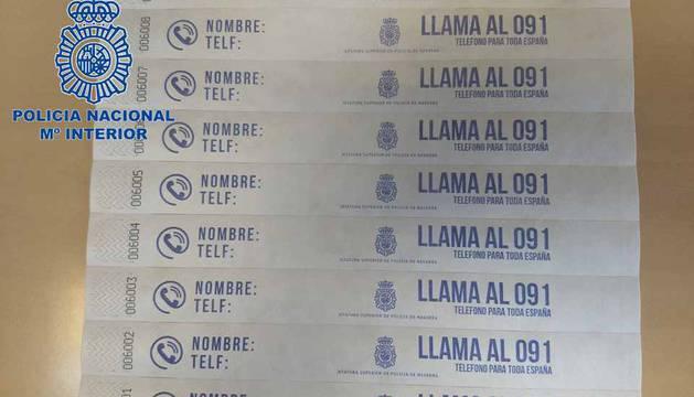 La Policía Nacional repartirá pulseras identificativas para los menores en San Fermín