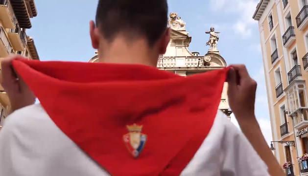 Imagen del vídeo publicado por Osasuna.
