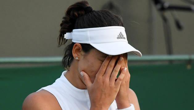 Muguruza, desolada por no poder defender Wimbledon