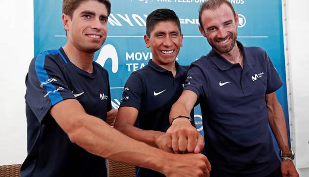Landa, Quintana y Valverde, líderes del Movistar.