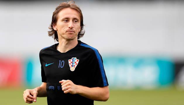 Luka Modric, capitán de Croacia.