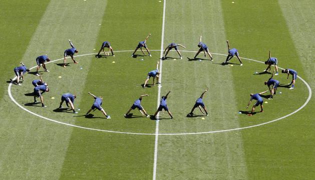 La selección sueca entrena en Samara.