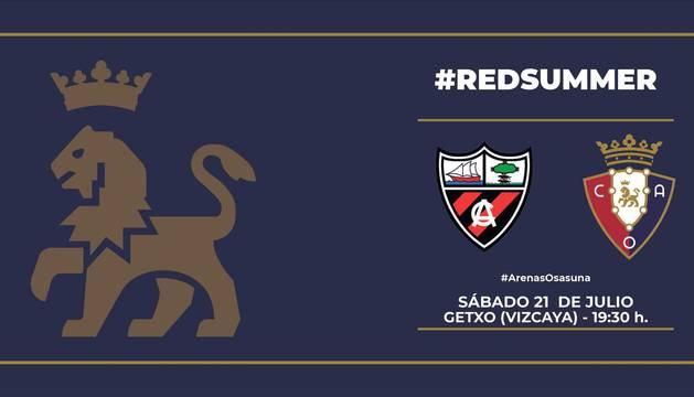 Anuncio del señalamiento del partido Arenas-Osasuna.