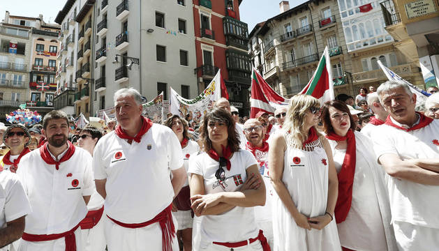 foto de El alcalde de Pamplona, Joseba Asirón asistió al acto organizado por Sanfermines 78 Gogoan.