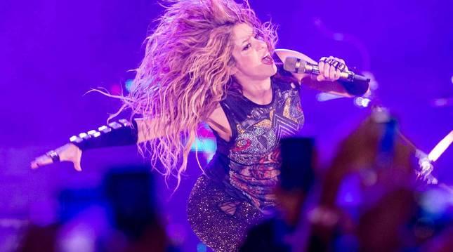 Shakira, en su concierto en Barcelona