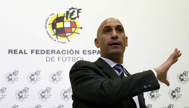 Luis Rubiales, presidente de la Federación Española.