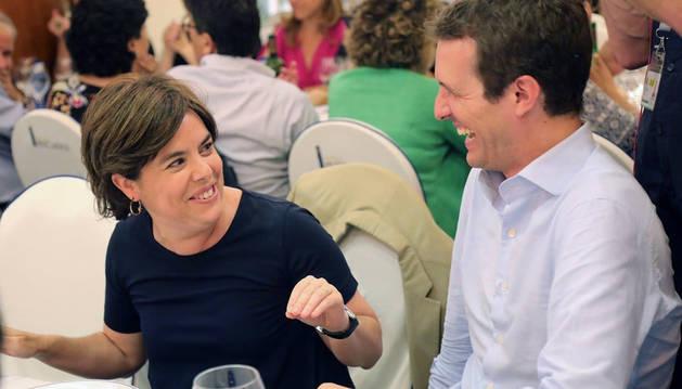 Santamaría y Casado, en una imagen facilitada por el PP.