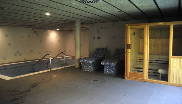 Vista de la nueva sauna húmeda del polideportivo.