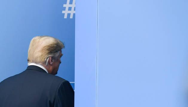 El presidente Donald Trump, en la cumbre de la OTAN.
