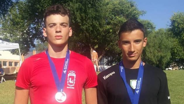 Oscar Pascual (izquierda) y Haritz Elizalde (derecha).