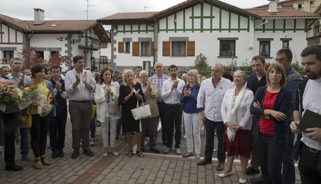 Homenaje en Leitza de 2017 al concejal de UPN, José Javier Múgica, asesinado por ETA.