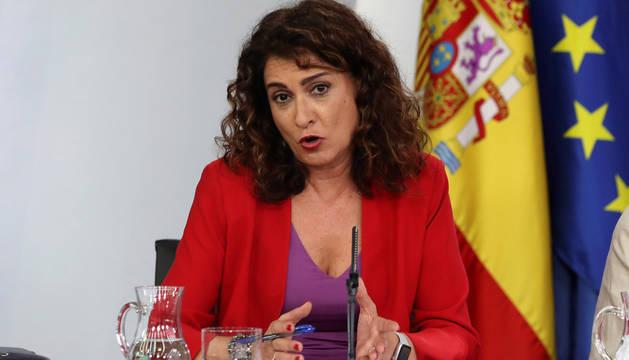 La ministra de Hacienda, María Jesús Montero, durante la rueda de prensa posterior a la reunión del Consejo de Ministros