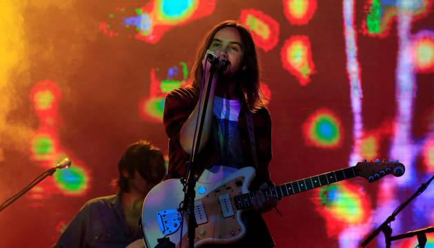 El lider de la banda australiana Tame Impala, Kevin Parker, durante su actuación en la tercera edición del festival Mad Cool.