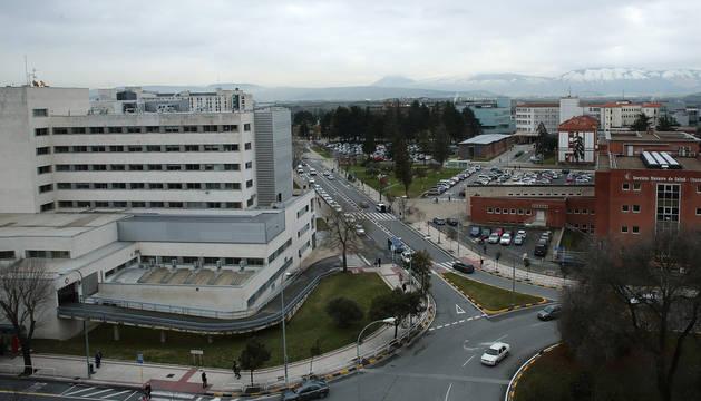 Vista aérea, de parte del Complejo Hospitalario de Navarra.