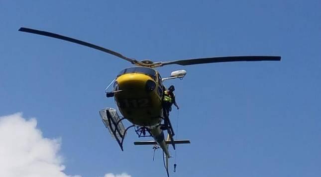 El GREIM rescata a una senderista lesionada en Etxalar