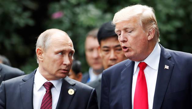 Putin y Trump, en un encuentro anterior.