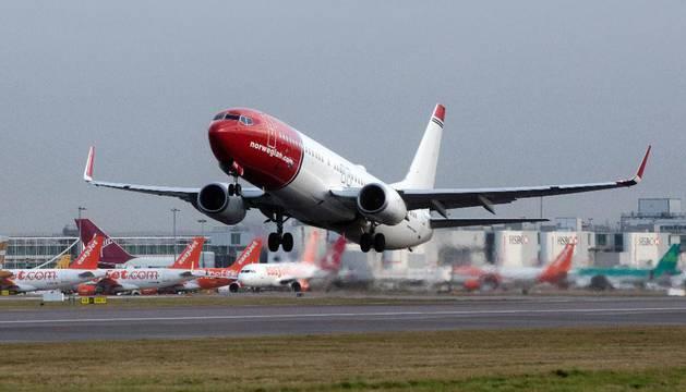 Un avión de la compañía Norwegian.