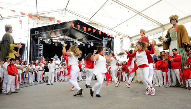 Imagen de las fiestas de Olite correspondiente al año pasado.