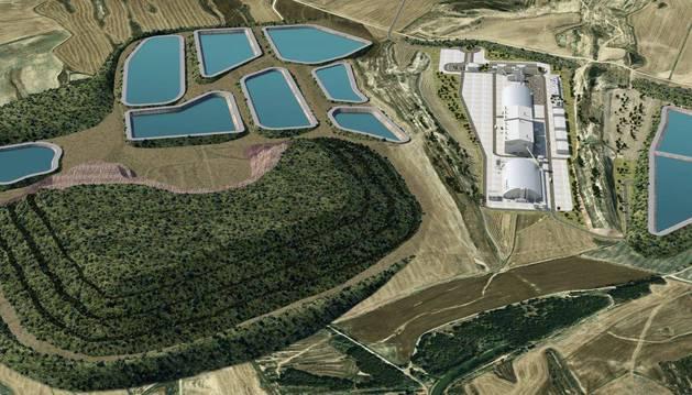 Recreación de la mina Muga