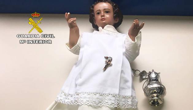 Recuperada la imagen religiosa del 'Pastorcito Divino' de Los Palacios (Sevilla)