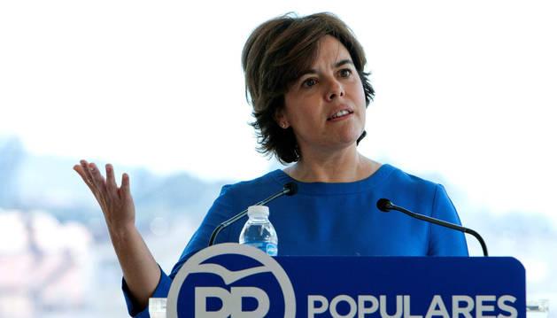 La candidata a la Presidencia del PP Soraya Sáenz de Santamaría