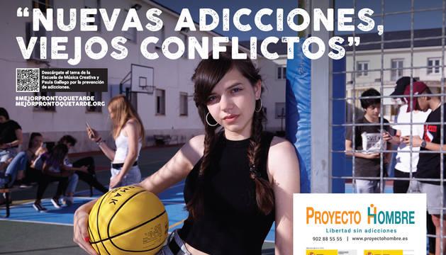 Cartel de la nueva campaña de Proyecto Hombre que quiere llegar a jóvenes y adolescentes.