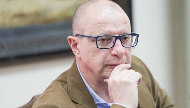 El portavoz del PSN en materia educativa, Carlos Gimeno.