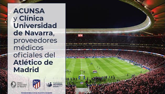 Acuerdo del Atlético con ACUNSA y Clínica Universidad de Navarra
