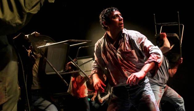 Un momento de la representación de Mendoza, que podrá verse esta noche en el Festival de Olite.