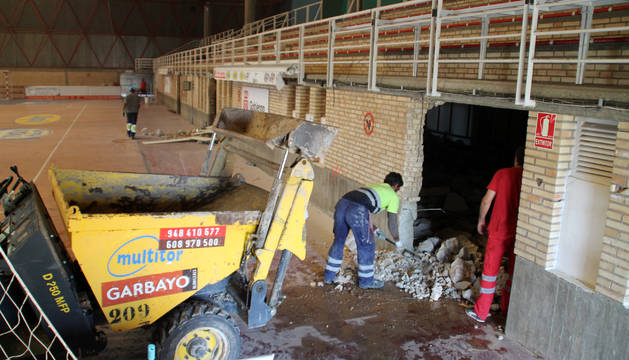 Comienzan las obras de reforma del polideportivo Ciudad de Tudela