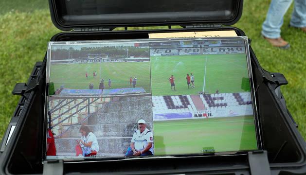 Imagen que mostraba el monitor del VAR antes del inicio.