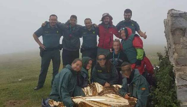 Rescatados ocho senderistas en Ochagavía que se habían desorientado por la niebla