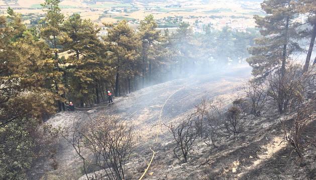 Declarado un incendio en las proximidades de Obanos