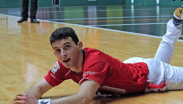 Jokin Altuna, durante uno de los partidos de la pasada edición de la feria de San Fermín.